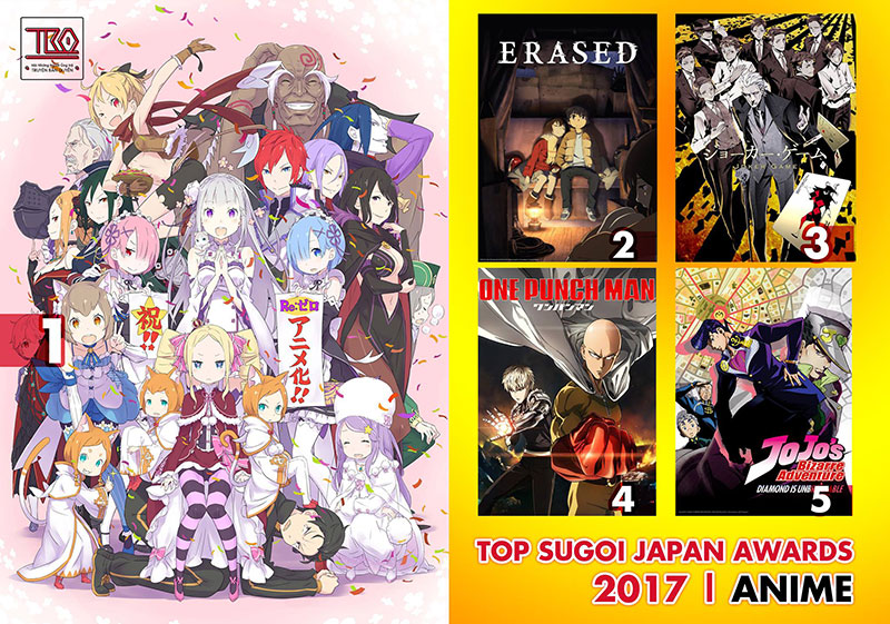 【SUGOI JAPAN AWARD】TOP 5 ANIME SERIES IN 2017