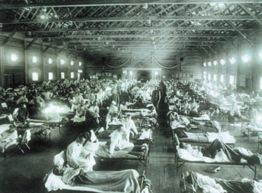 Жертвы эпидемии 1918 года переполняют больницы. Фото National Museum ofHealth and Medicine, Armed Forces Institute of Pathology с сайта www.vaccineinformation.org