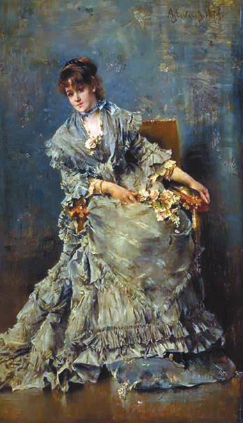 Внимательная слушательница.  1879 год