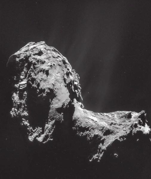 Фото кометы с борта Rosetta (август 2014). ESA/Rosetta/MPS for OSIRIS Team MPS/UPD/LAM/IAA/SSO/INTA/UPM/DASP/IDA