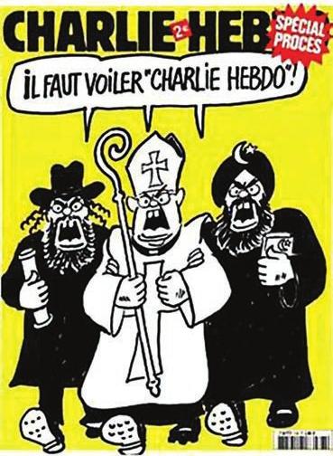 Мы перепечатываем карикатуру из журнала «Шарли Эбдо» не только в знак солидарности, но и чтобы напомнить: карикатуристы, пародисты и прочие насмешники находятся на переднем крае борьбы с религиозным и прочим мракобесием. Наука и культура вообще — под их прикрытием.