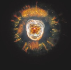 Планетарная туманность NGC 2392. Центральная звезда со временем станет белым карликом. Фото из «Википедии».  Credit: NASA, ESA, Andrew Fruchter (STScI), and the ERO team (STScI + ST-ECF)