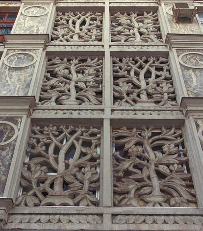Дом Бурова. Панель по эскизу В. Фаворского. Современное фото