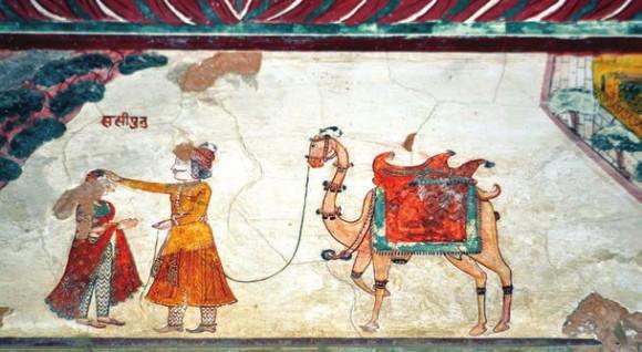 Роспись дворца. 2 июня 2015 года