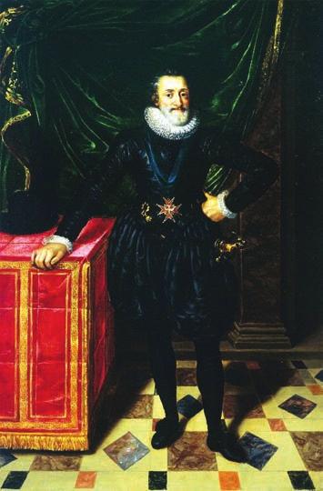 Франс Пурбус Младший (1569–1622).  Портрет Генриха IV. 1610 год. Лувр, Париж