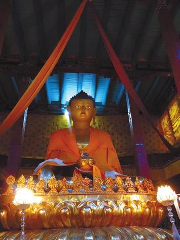 Будда. Монастырь Хемис. 19 июня 2015 года. Фото В. Скворцова