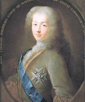 Жан-Фредерик Фелиппо, граф де Морепа (1701–1781) — французский государственный деятель. В период с 1723 по 1749 год занимал пост государственного секретаря по делам военно-морского флота при короле Людовике XV