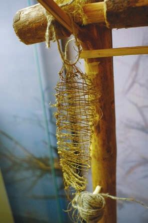 Выставка «Неолит...», тканое изделие из крапивных нитей