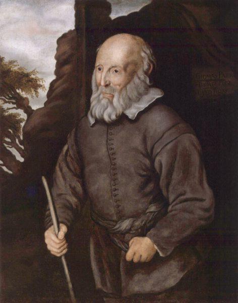 Томас Парр. Портрет работы неизвестного художника из Лондонской национальной портретной галереи («Википедия»)