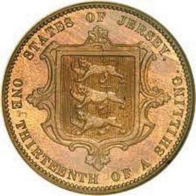 Виктория I, 1 ⁄ 13 шиллинга (1866). (en.numista.com)