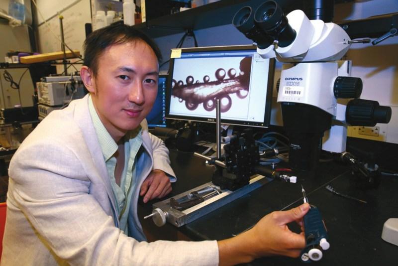 Дэвид Ху в своей лаборатории