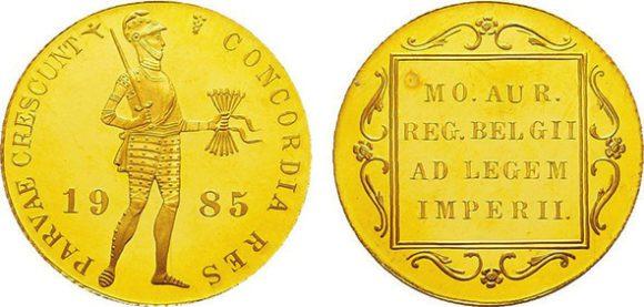 9. Современный нидерландский дукат, королева Беатрикс (р. 1938, правила 1980–2013) (Münzhandlung Hans Linnartz)