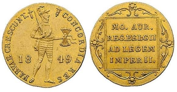 10. Дукат санкт-петербургской чеканки (1849)