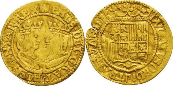 7. Ранний нидерландский дукат (1590–1593), подражание испанскому (Münzen Sänn)