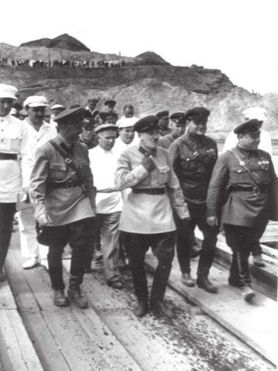 Ягода на строительстве канала Москва — Волга (начало 1930-х)