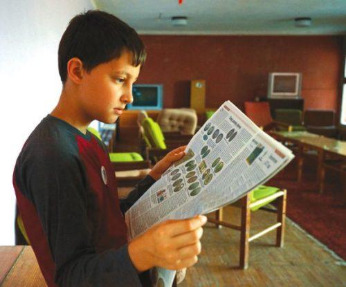 Привезенный номер ТрВ-Наука ребята читали с большим интересом