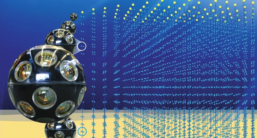 Так художник изобразил будущую нейтринную обсерваторию KM3NeT, сооружаемую в Средиземном море. By Edewolf, www.km3net.org, CC BY-SA 3.0. Рис. с сайта en.wikipedia.org/w/index.php?curid=39964838