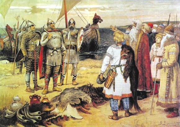 Виктор Васнецов. Прибытие Рюрика в Ладогу. 1909 («Википедия»)