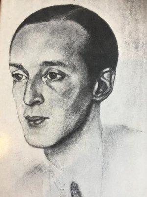 Владимир Набоков (1933). Пастель Магды Нахман. thenabokovian.org