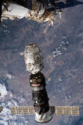 «Прогресс МС-16» истыковочный отсек «Пирс» (фото NASA)
