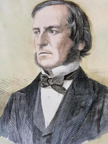 Джордж Буль. Гравюра неизвестного автора, 1864–1865 годы
