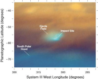 Изображение пятна в атмосфере Юпитера, полученное телескопом Кек II в инфракрасных лучах. Paul Kalas (UCB), Michael Fitzgerald (LLNL/UCLA), Franck Marchis (SETI Institute/UCB), James Graham (UCB)