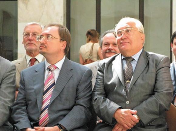 Встреча ректоров МГУ и СПбГУ 12 августа 2009 г. (Фото Н.Деминой)
