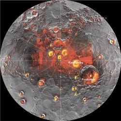 Северная полярная область Меркурия