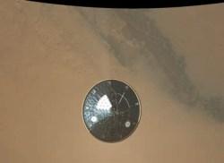 Цветное изображение теплозащитного экрана миссии Mars Science