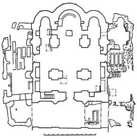 Раскопанный план церкви