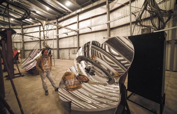 Олег Калашев в здании флуоресцентного телескопа TALE перед сеансом наблюдений. Фото О. Калашева