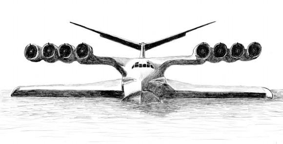 Экраноплан КМ. Изображение из «Википедии»