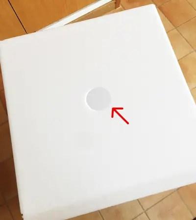 カラーボードに穴をあける