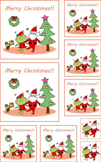 クリスマスグッズを簡単作成!!シールもカードも印刷するだけ色々使える!!3