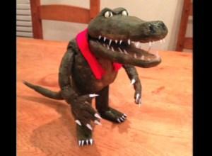 stop-frame puppet crocodile