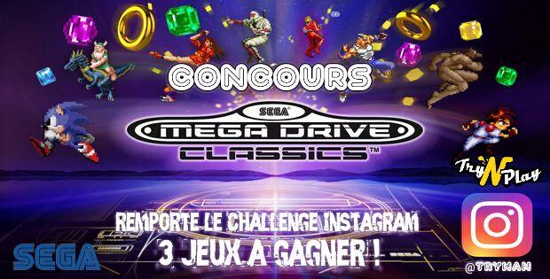 Concours SEGA MEGA DRIVE CLASSICS : remporte le défi Instagram et gagne le jeu PS4 !