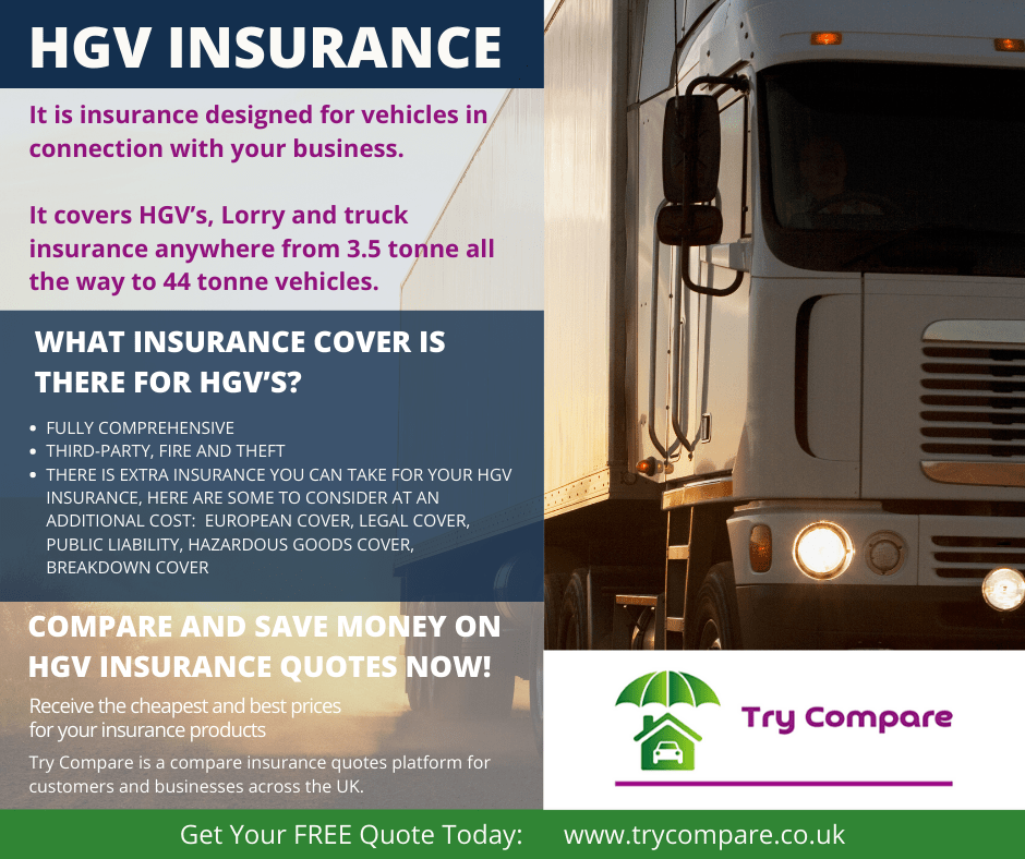 Get HGV insurance - Try Compare