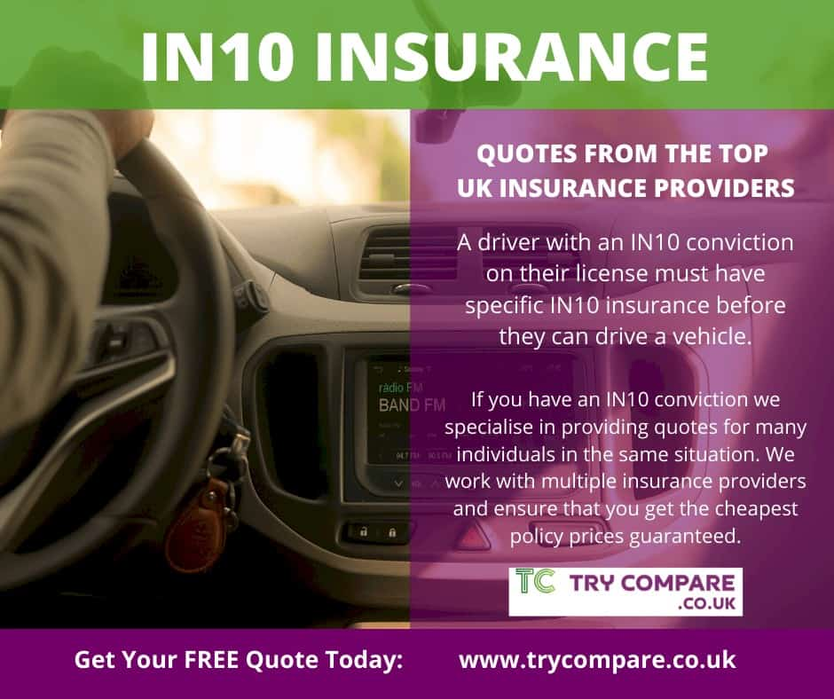 IN10 Insurance - Describing Try Compare working with top UK insurance providers. IN10 Insurance Quotes.