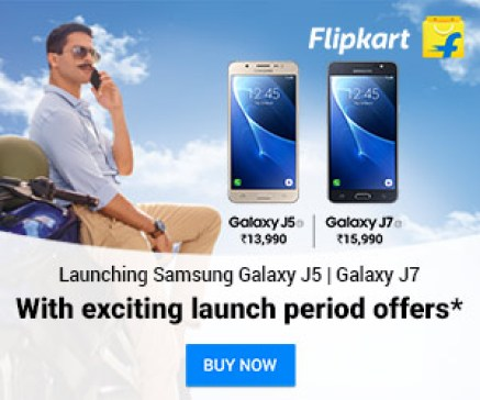 Samsung J5 & J7 (2016 Edition) FlipKart Exclusive Offer