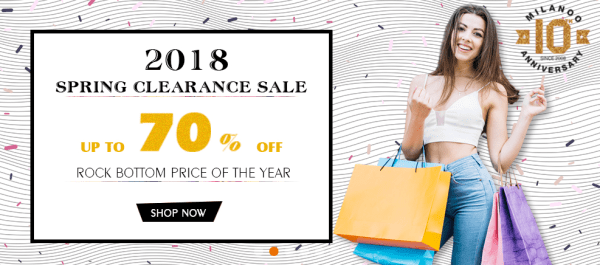 save upto 70% on milanoo