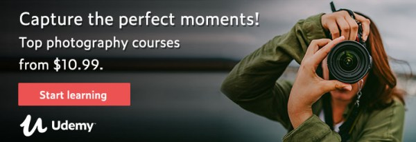 Top photography courses online Udemy $10.99 each
