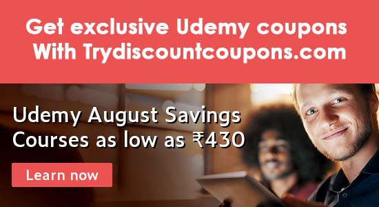 Udemy Rs 360 coupon, 100,000+ courses on sale - Best offer
