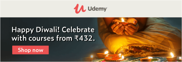 udemy diwali sale 2019