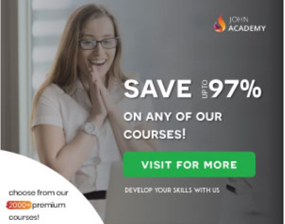 save up to 97% with john academy 11.99 courses
