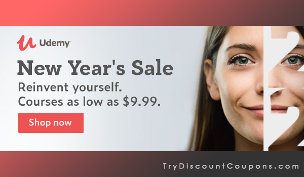 udemy new year sale 2020 $9.99 courses