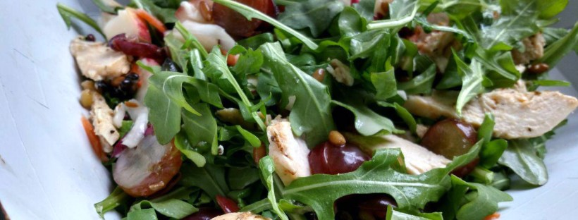 Panera Ancient Grain & Arugula Salad with Chicken