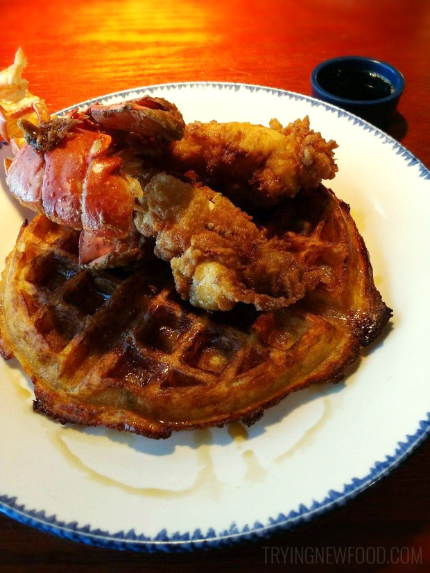 Red Lobster Lobster and Waffles with Lobster Mac and Cheese