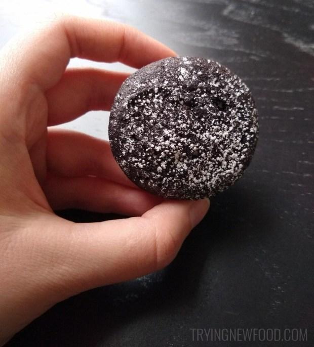 Panera Cocoa and Creme Cookie closeup