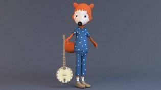 fox and banjo