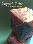 How to Make Origami Boxes for Ornaments and Gifts